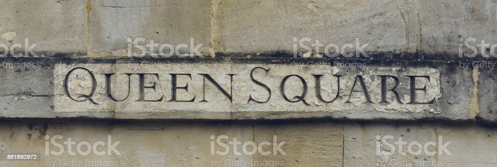 Queen Square Carved in the Stone A stock photo