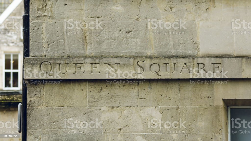 Queen Square Carved in the Stone B stock photo