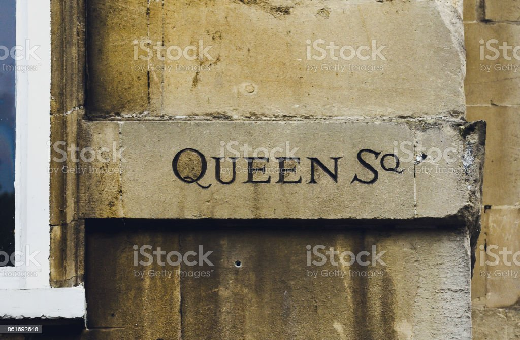 Queen Square Carved in the Stone C stock photo