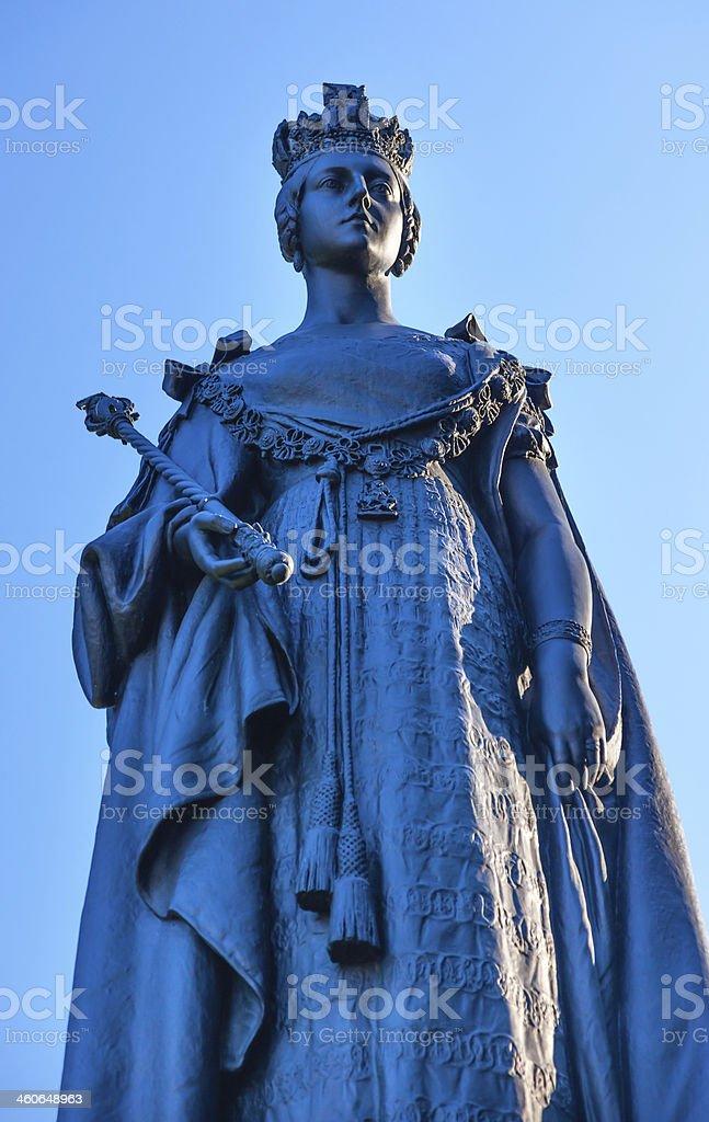 Queen Statue Provincial Capital Legislative Buildiing Victoria British Columbia Canada stock photo