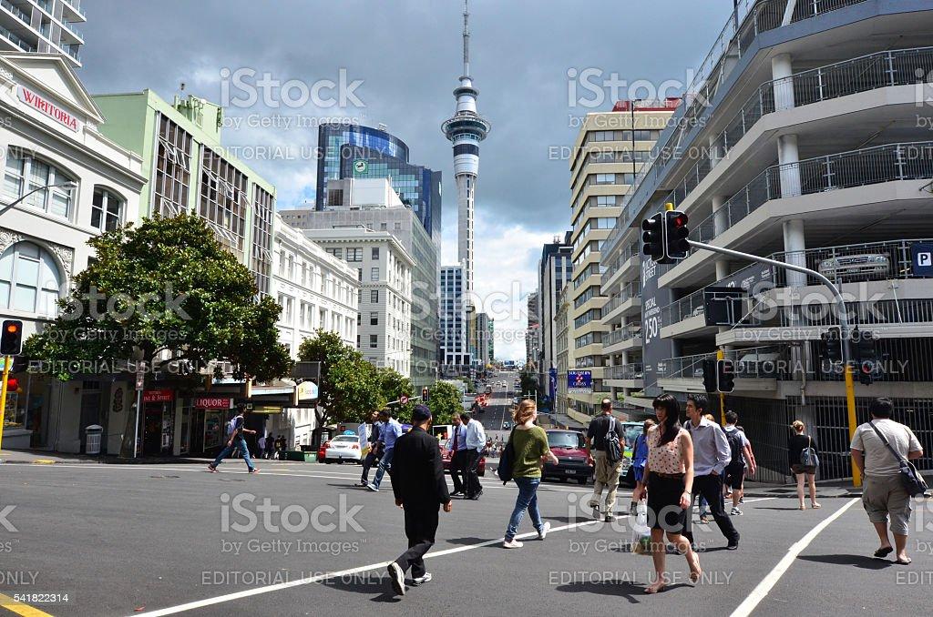 Queen Street Auckland New Zealand stock photo