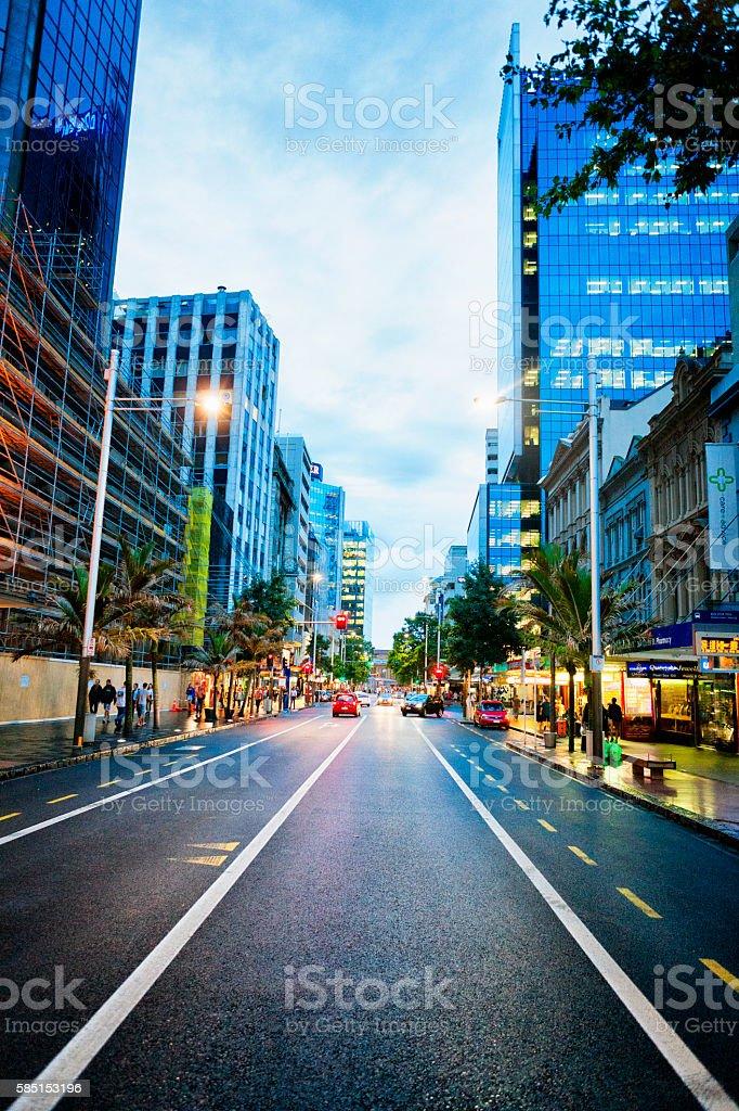 Queen street in Auckland, New Zealand stock photo