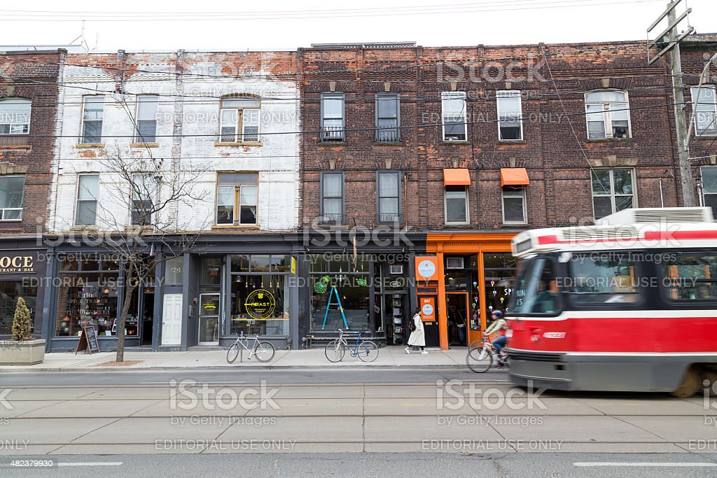 Queen Street West Toronto royalty-free stock photo