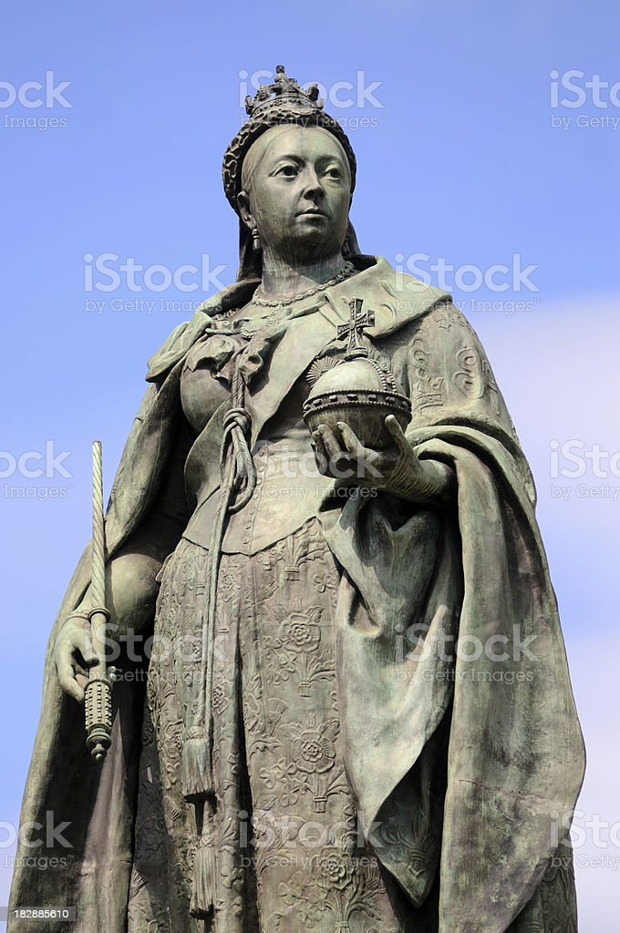 Queen Victoria, Birmingham stock photo