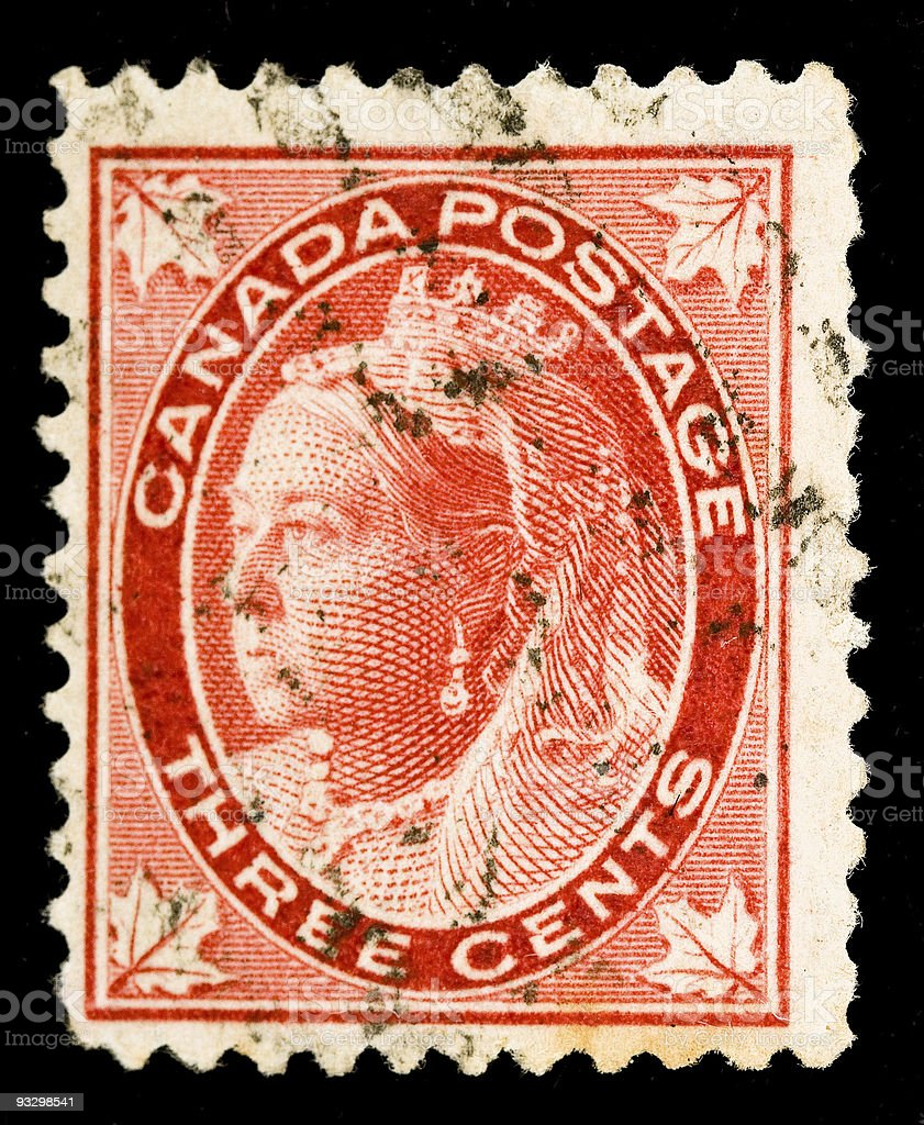 Queen Victoria Canada Postage Stamp royalty-free stock photo