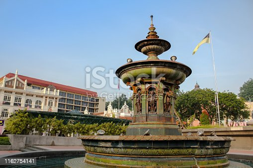 Queen Victoria Fountain at Merdeka Square, Kuala Lumper Malaysia is brought in from England on 1987.