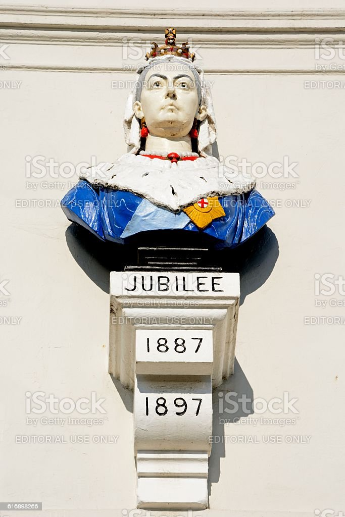 Queen Victoria Jubilee Bust, Weymouth. stock photo