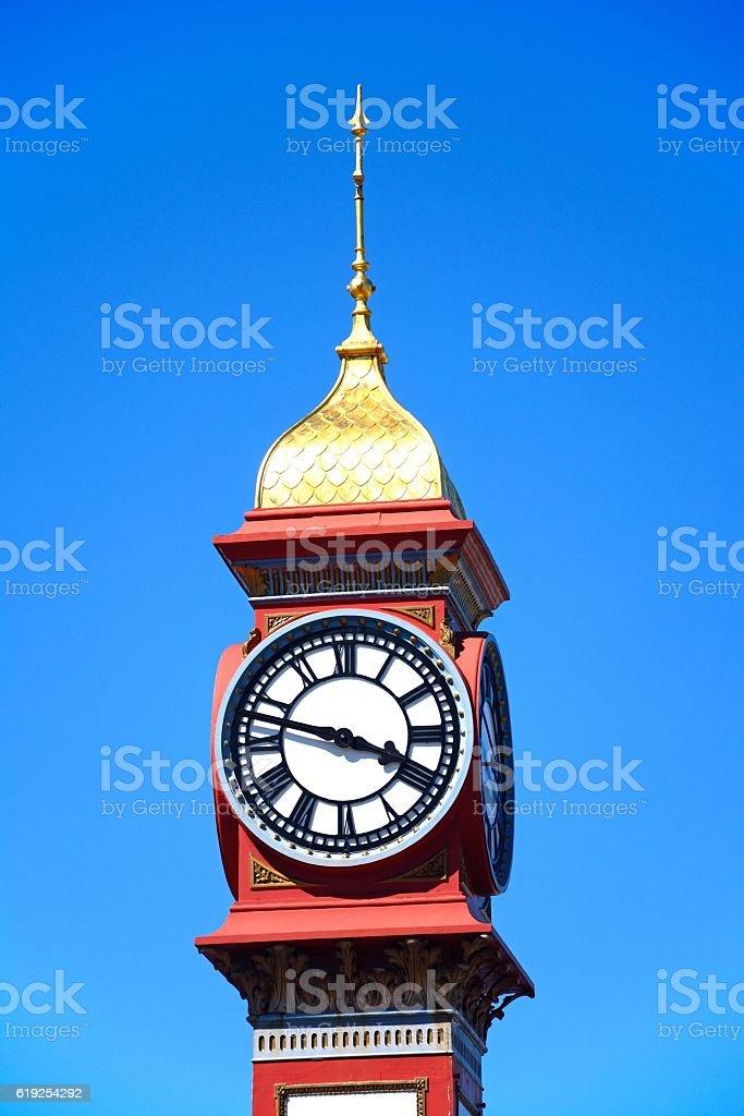 Queen Victoria Jubilee Clock, Weymouth. stock photo
