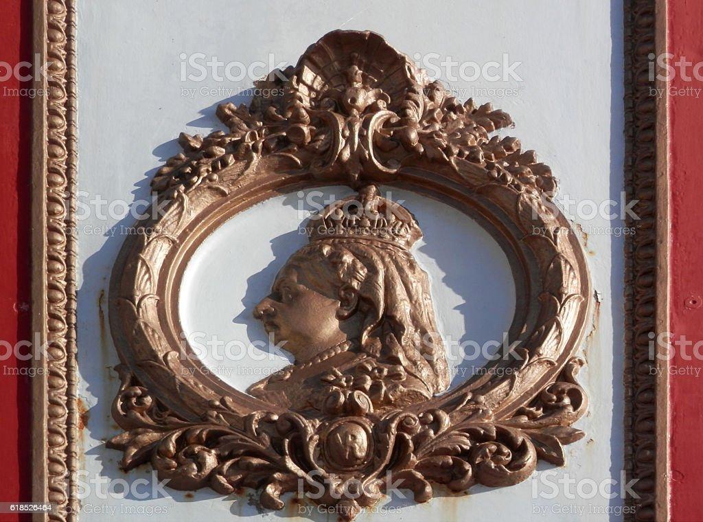 Queen Victoria Jubilee plaque stock photo