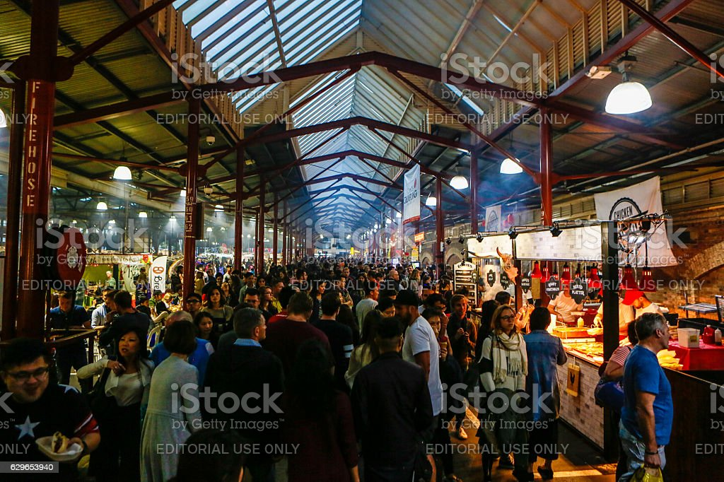 Queen Victoria Market Melbourne Australia stock photo