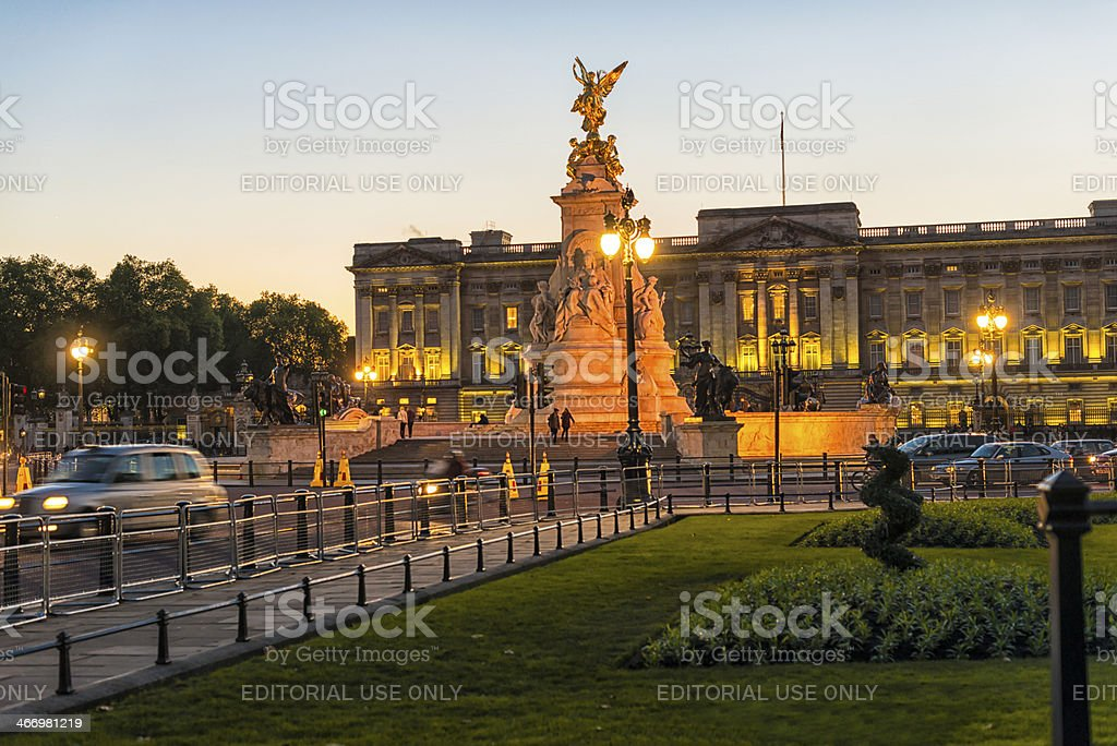Queen Victoria Memorial and Buckingham Palace stock photo