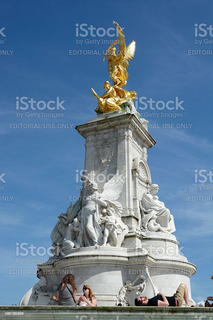 Queen Victoria Memorial. London. England stock photo