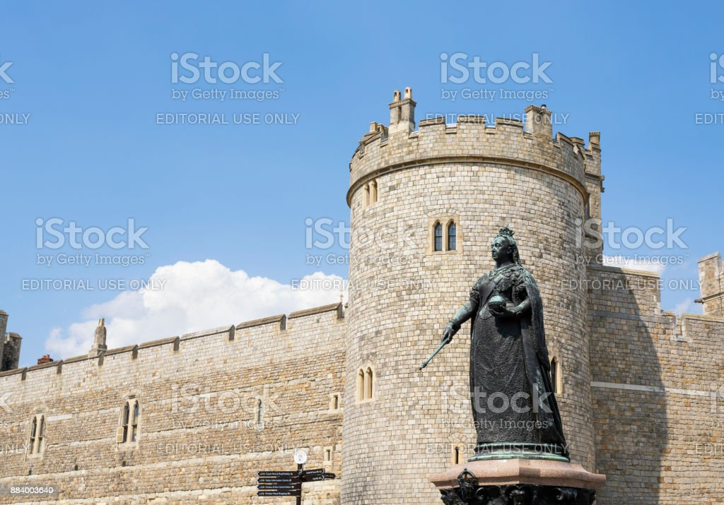 Queen Victoria monument at Windsor Castle, Windsor England stock photo