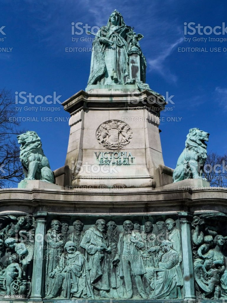 Queen Victoria monument - Dalton Park - Lancaster - England stock photo