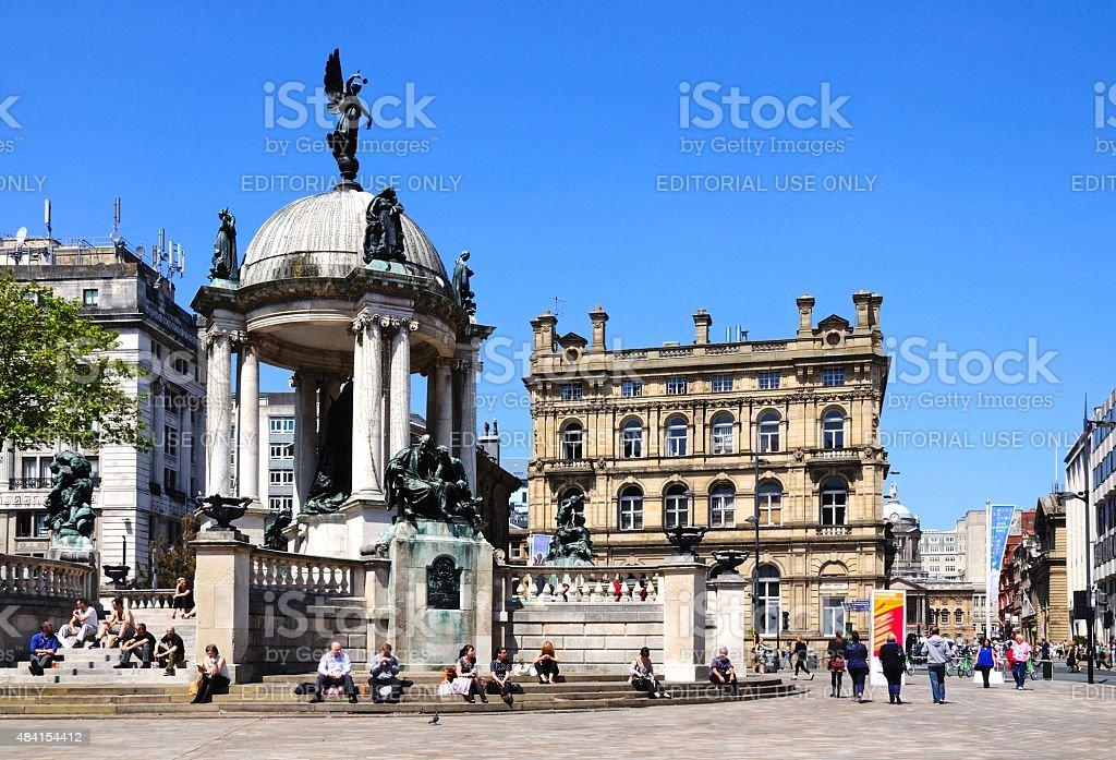 Queen Victoria Monument, Liverpool. stock photo