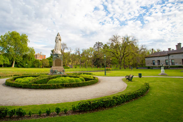 Queen Victoria Monument stock photo