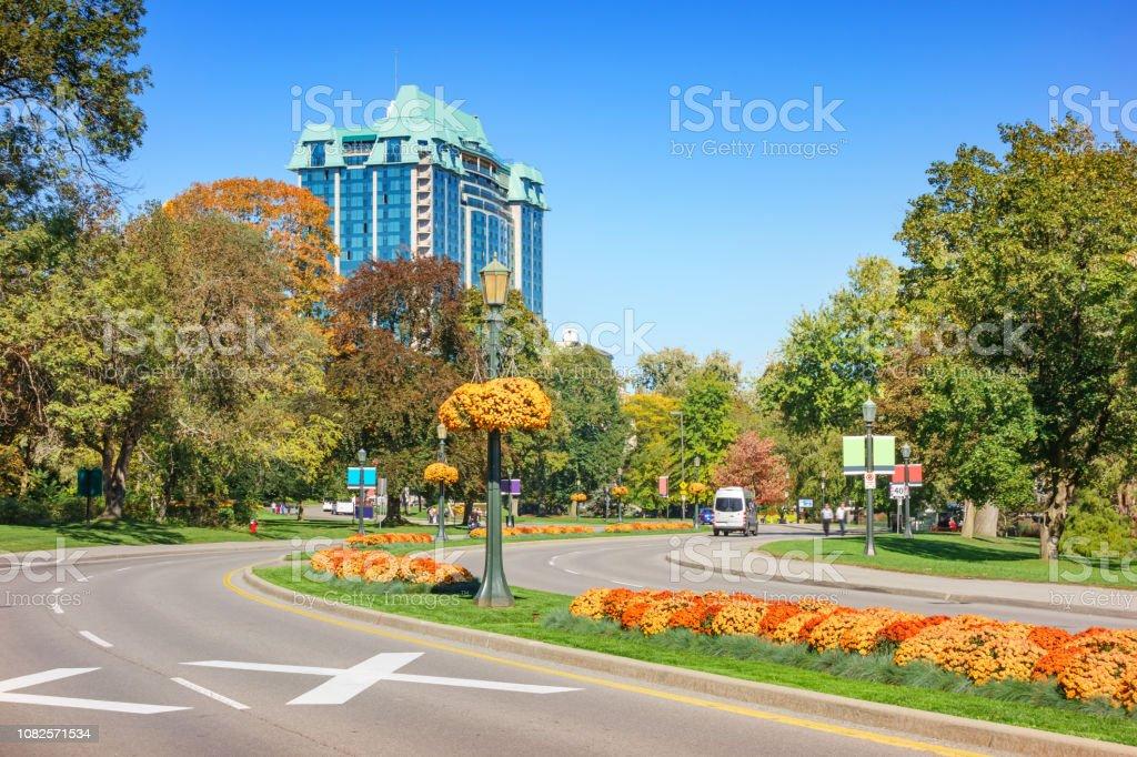 Queen Victoria Park And Niagara Parkway In Downtown Niagara