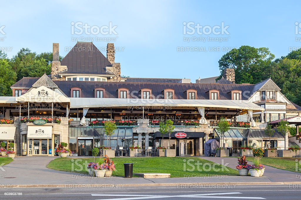 Queen Victoria Place gift shop in Niagara Park, Ontario stock photo