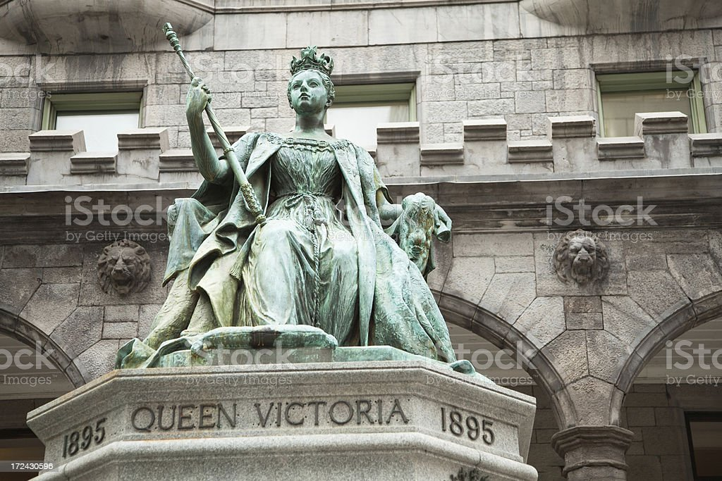Queen Victoria statue McGill University Montreal royalty-free stock photo