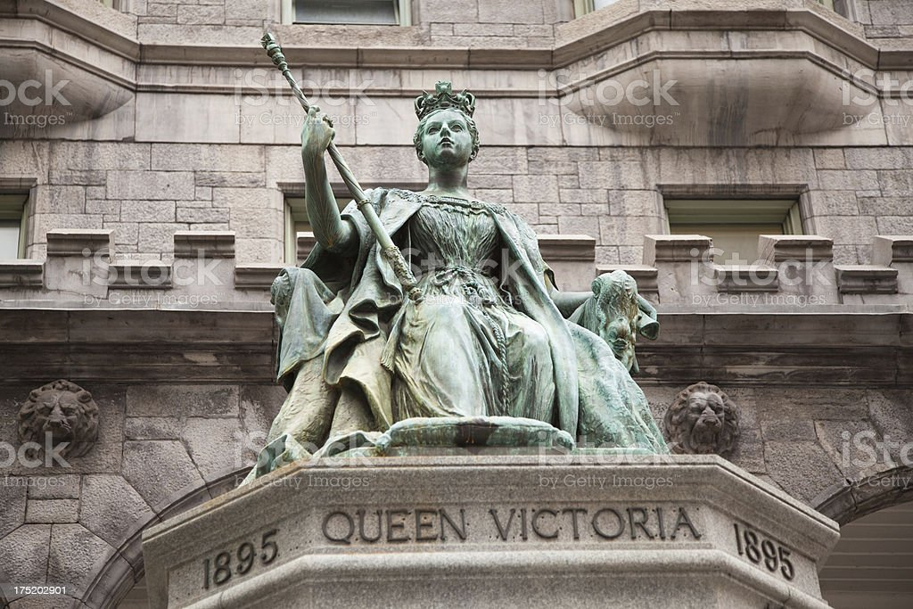 Queen Victoria statue McGill University Montreal stock photo