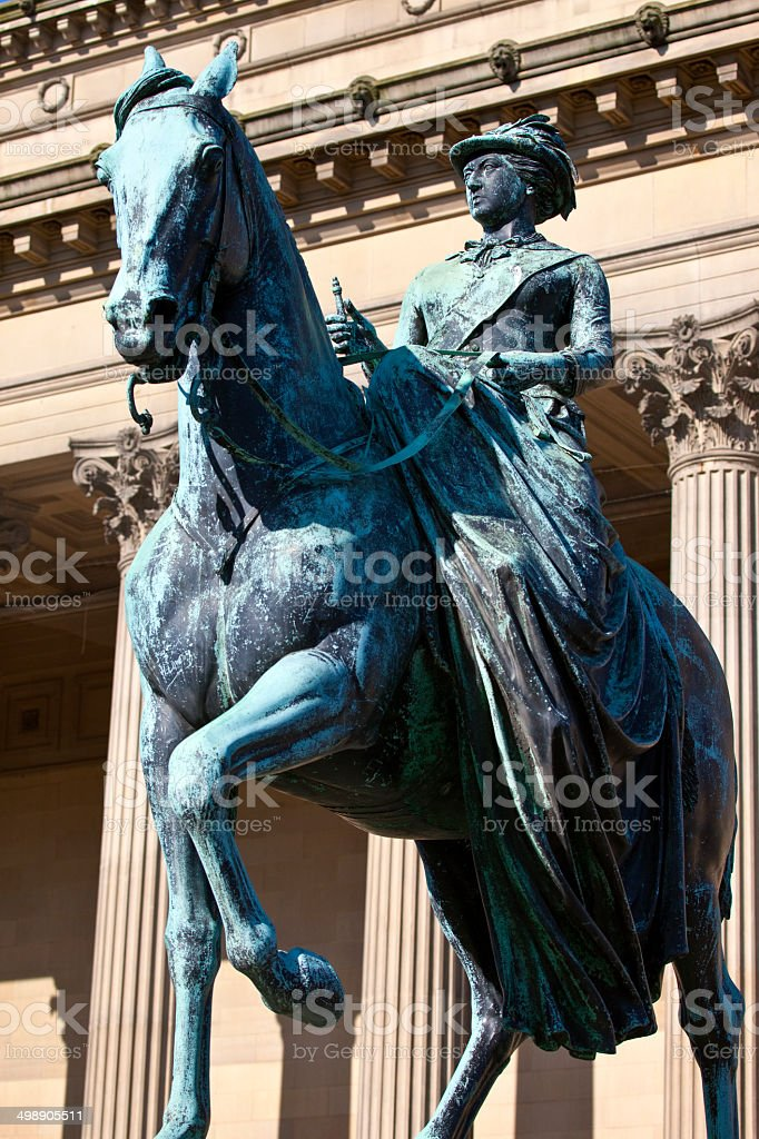 Queen Victoria Statue outside St. George's Hall in Liverpool royalty-free stock photo