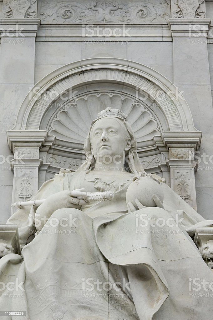 Queen Victoria Statue royalty-free stock photo