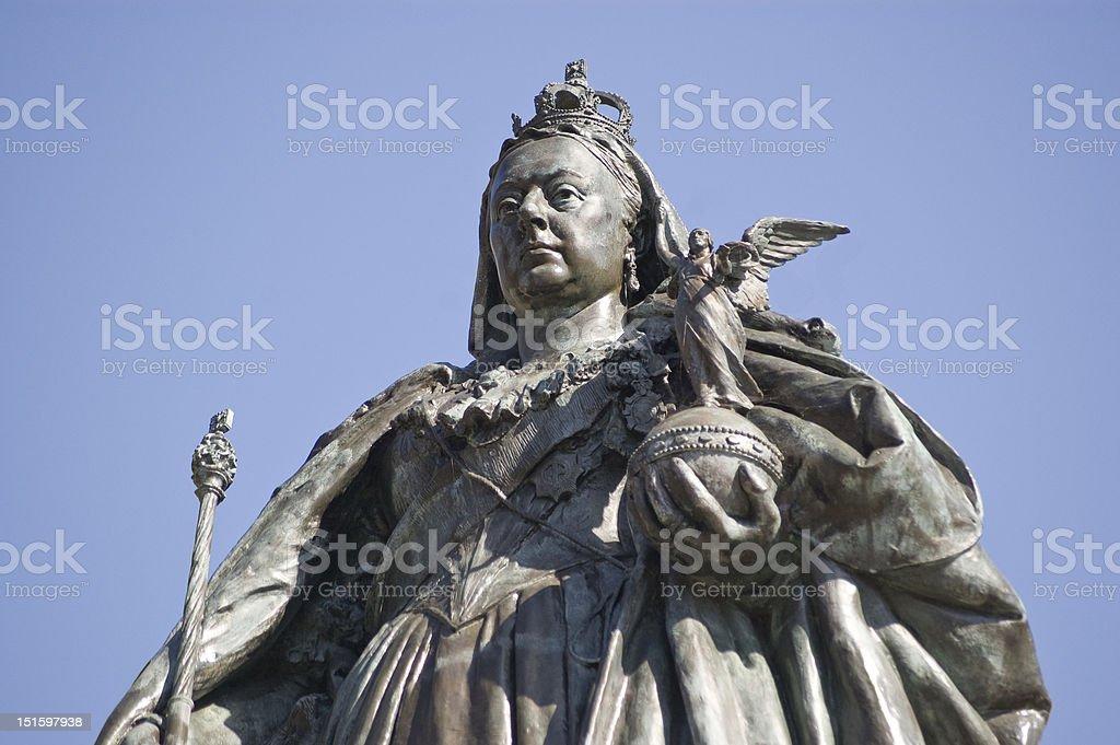 Queen Victoria Statue, Portsmouth stock photo