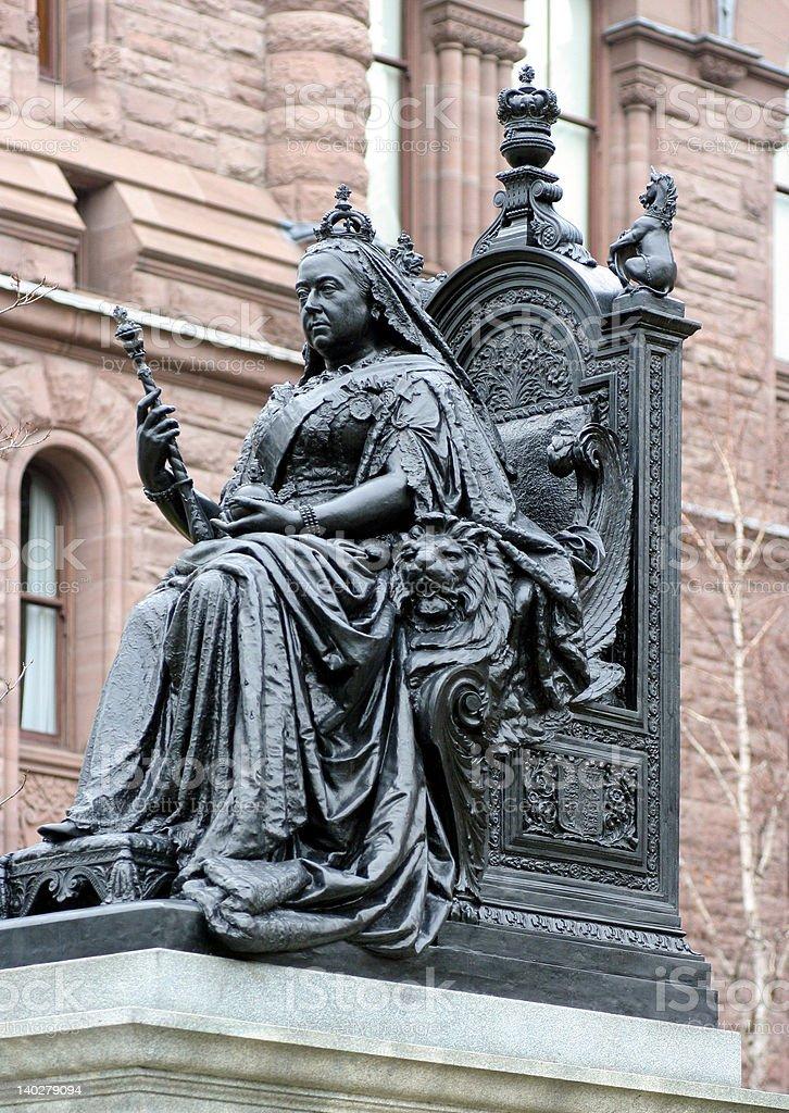 Queen Victoria Statue, vertical stock photo