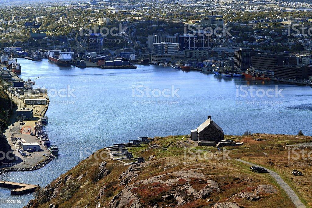 Queen?s Artillery Battery on Signal Hill St. John?s Newfoundland stock photo