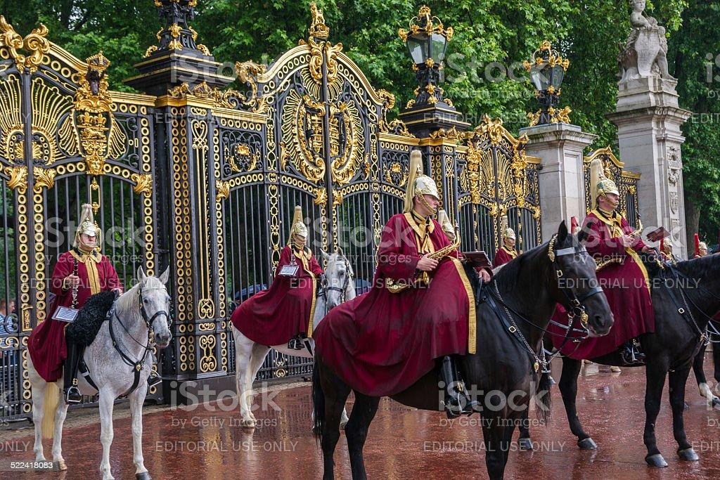 Queen's-Band auf Queen's Birthday Parade Lizenzfreies stock-foto