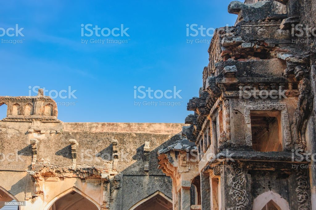 Queen's Bath in Hampi, India stock photo