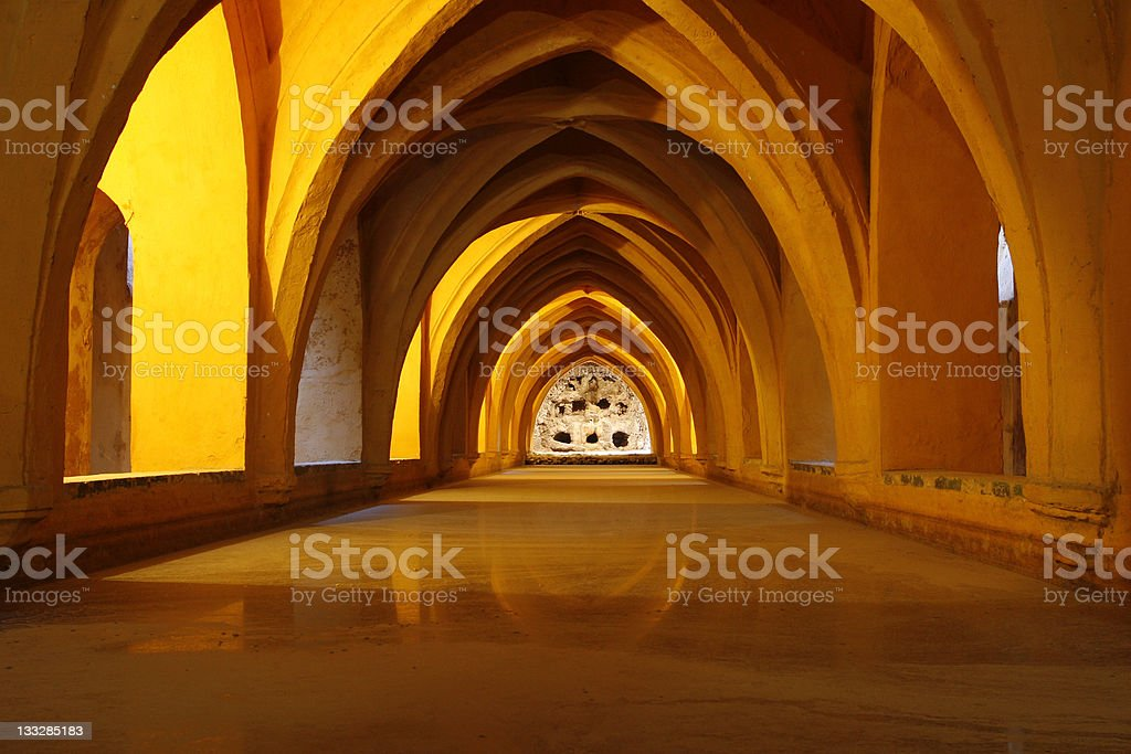 Queen's Baths, Alcazar, Seville, Spain royalty-free stock photo