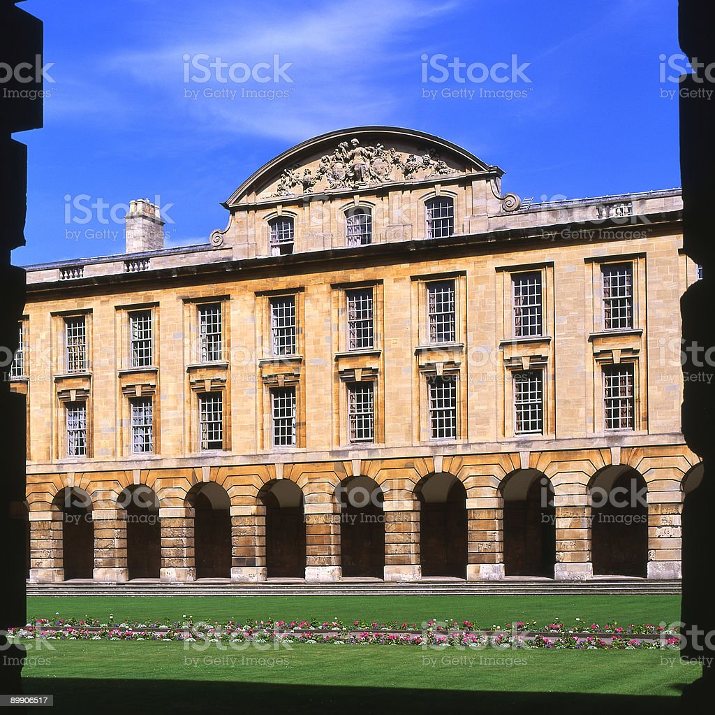 Queens College. Oxford. England royalty-free stock photo