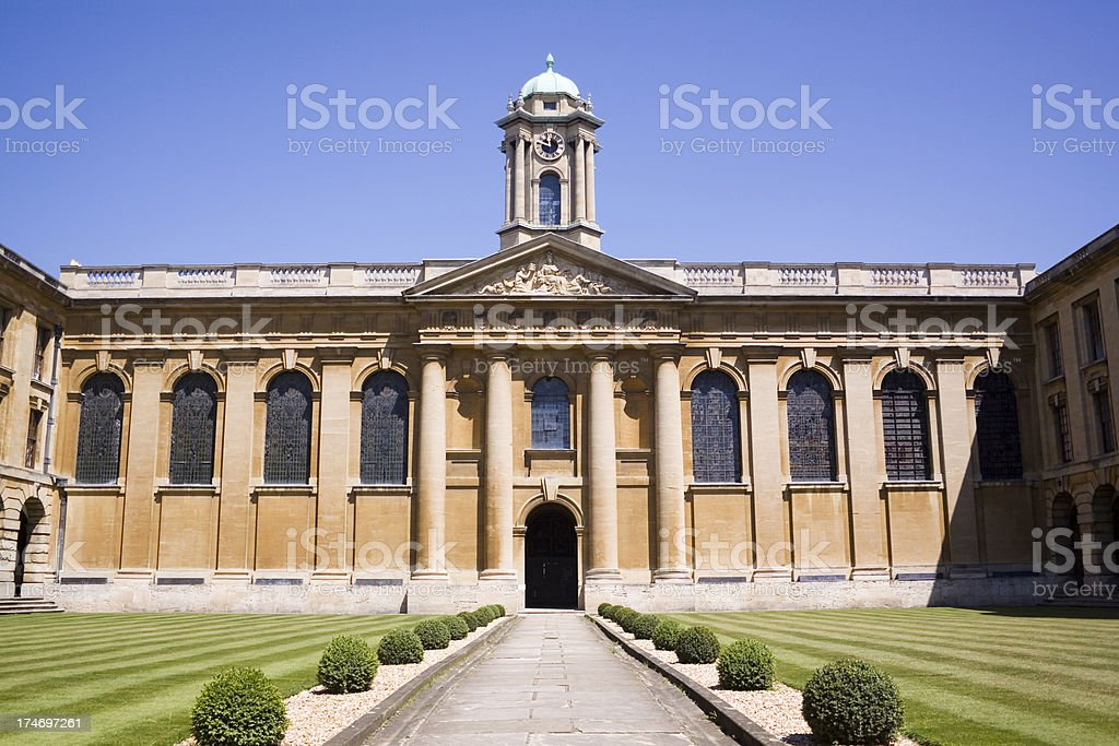 Queens College Oxford University royalty-free stock photo