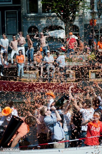 istock Queens Day Celebrations in Amsterdam 2011 458083585