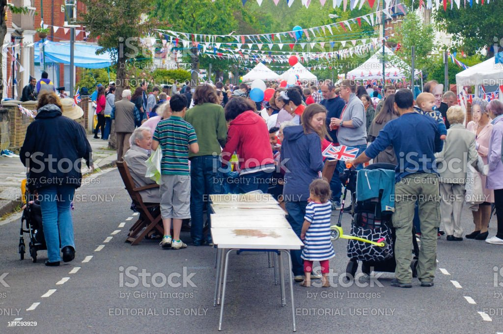 Queen's Diamond Jubilee Street Party, London stock photo