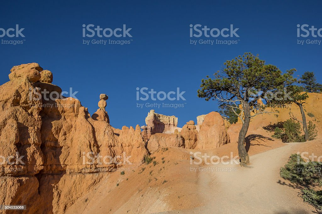 Queens garden trail in Bryce Canyon stock photo