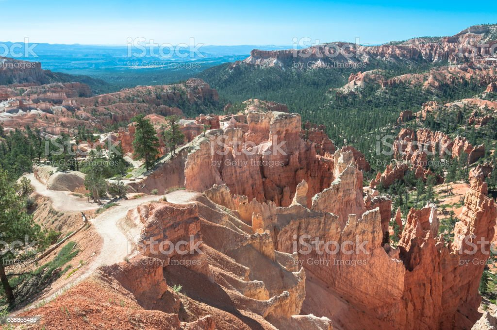 Queens Garden Trail in Bryce Canyon, Utah stock photo