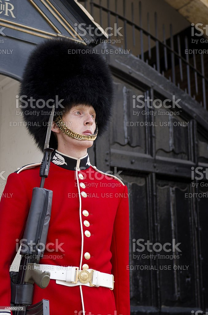 Queens Guard, St James's Palace, London royalty-free stock photo