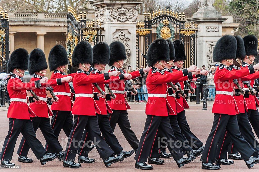 queen's guards stock photo