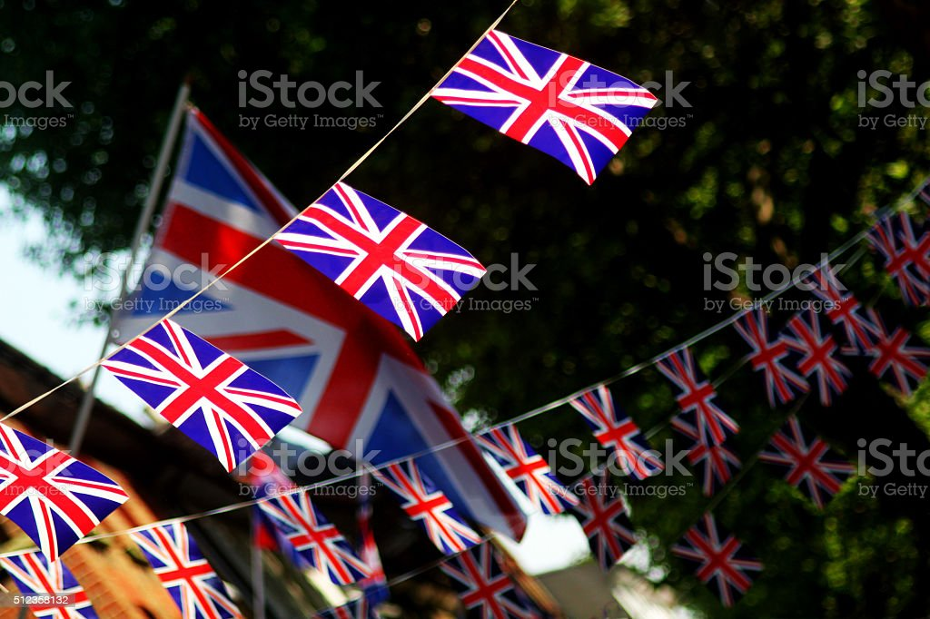 Queens Jubilee Street Scene stock photo