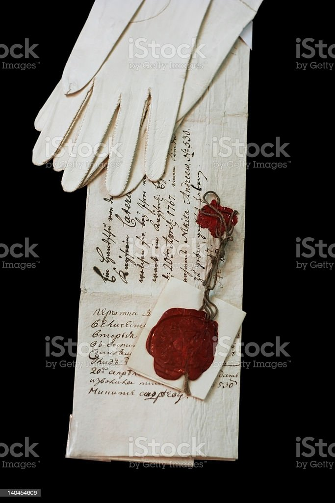 Queen's letter royalty-free stock photo