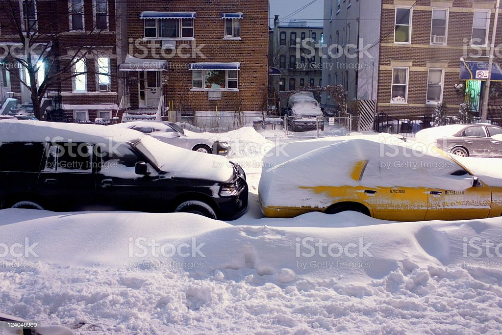 Queens, New York, Snowed In stock photo