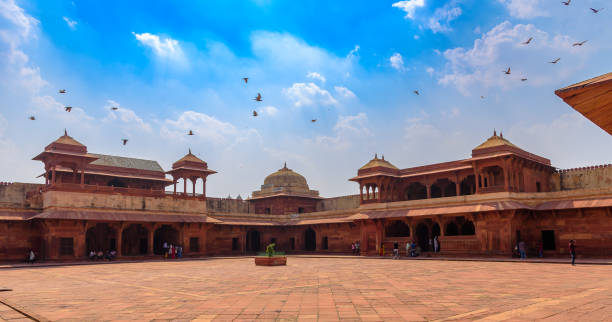 Queen's Palace Agra,Utter Pradesh / India - October 13,2019. View of Queen's Palace or Jodha bai's palace in Fatehpur Sikri . jodha bai's palace stock pictures, royalty-free photos & images