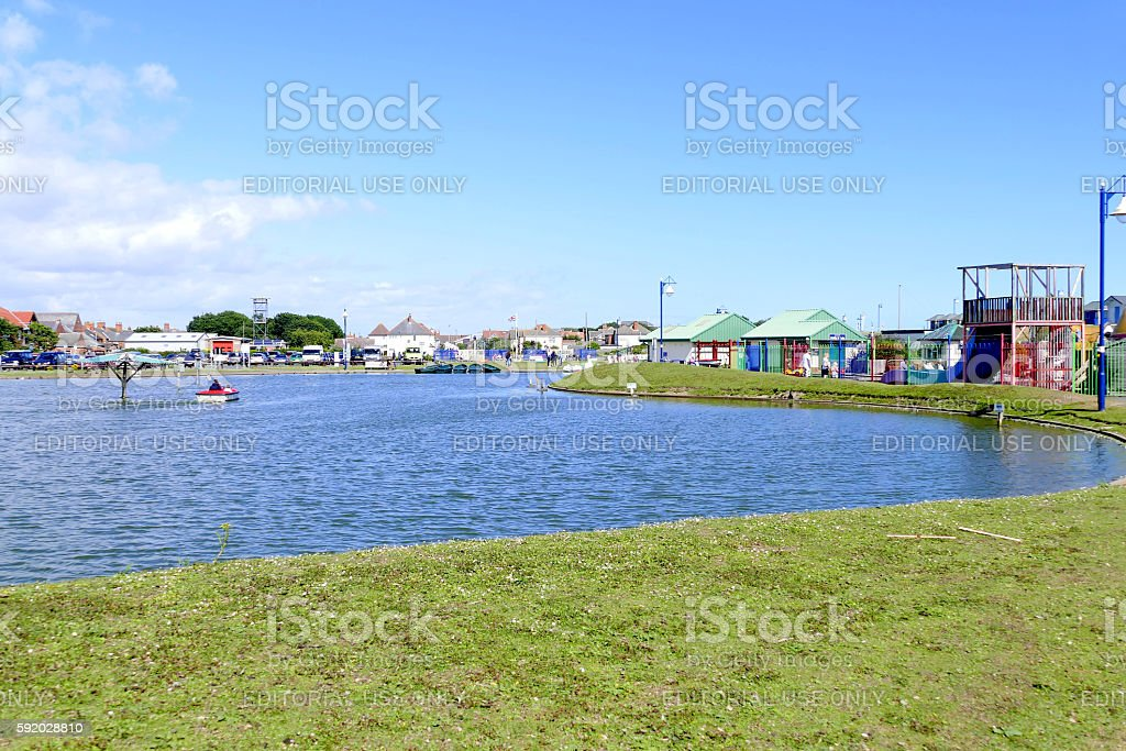 Queen's park, Mablethorpe. stock photo
