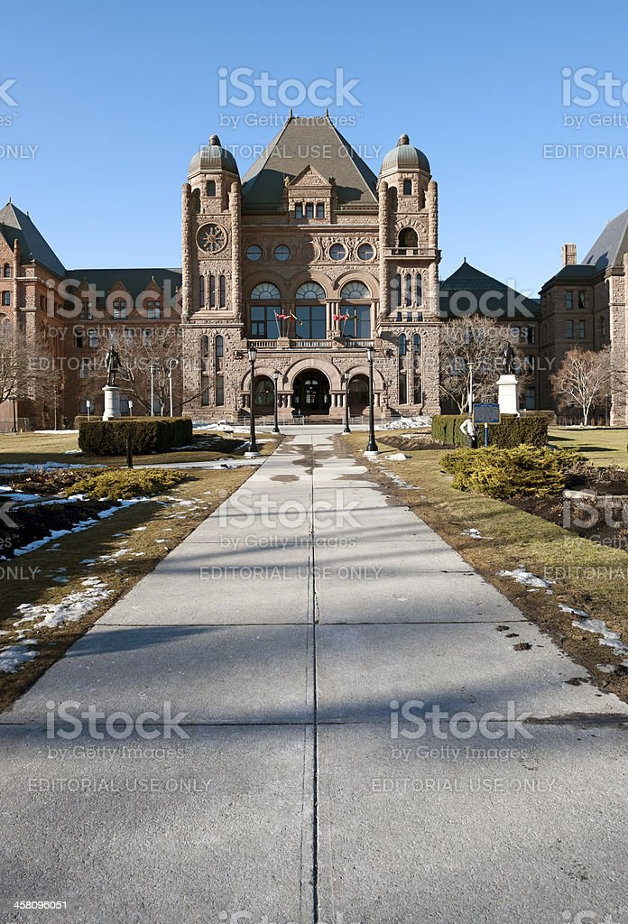 Queen's Park Ontario Legislative Building stock photo