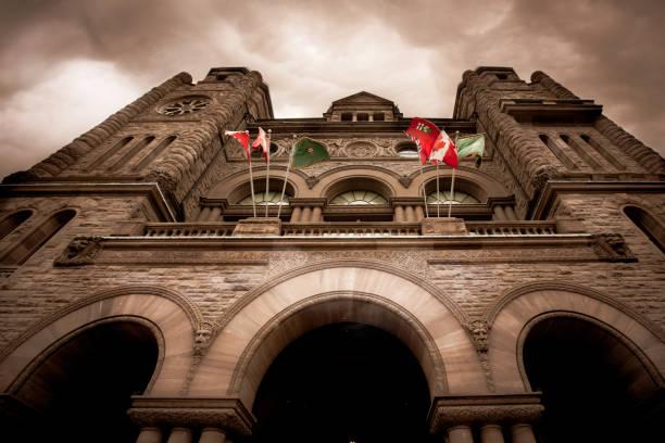 여왕의 공원, 토론토-온타리오 주정부 의회 - 토론토 온타리오 뉴스 사진 이미지