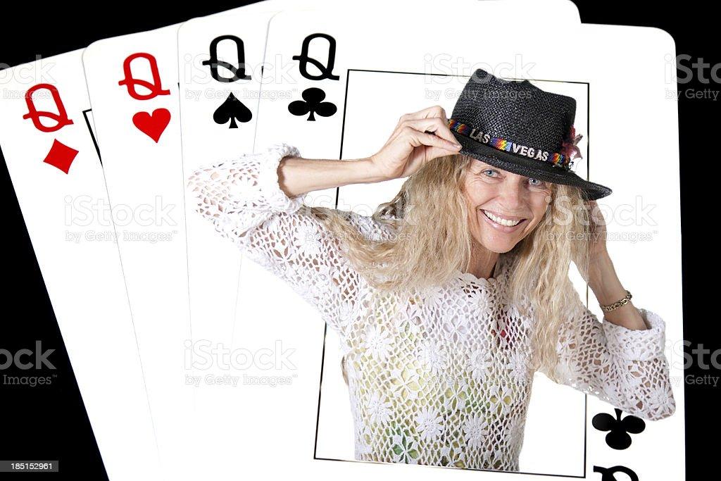 Cuatro camas Queen, póquer - foto de stock