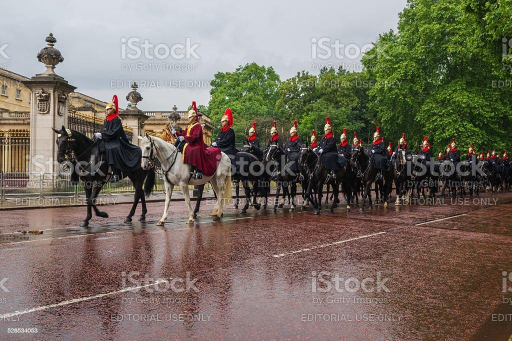 Queen's royal guard in den Queen's Birthday Parade – Foto