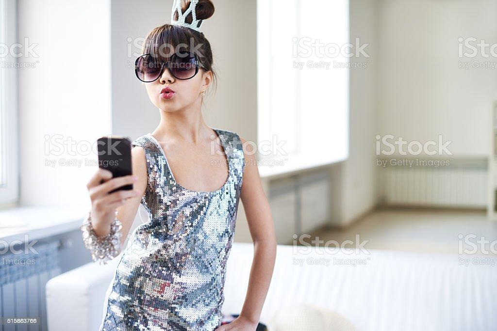 Queen's selfie stock photo